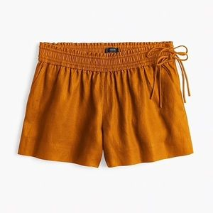 J Crew linen shorts with side ties
